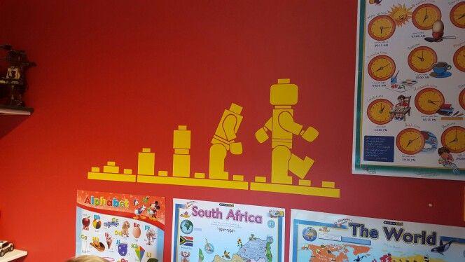 Wall sticker lego room