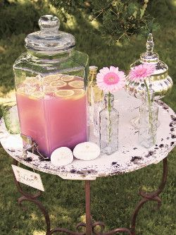 lovely pink lemonade perfect for summer garden tea parties