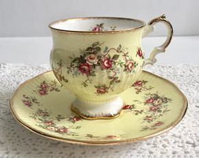 Lovely Yellow Elizabethan China Tea Cup and Saucer