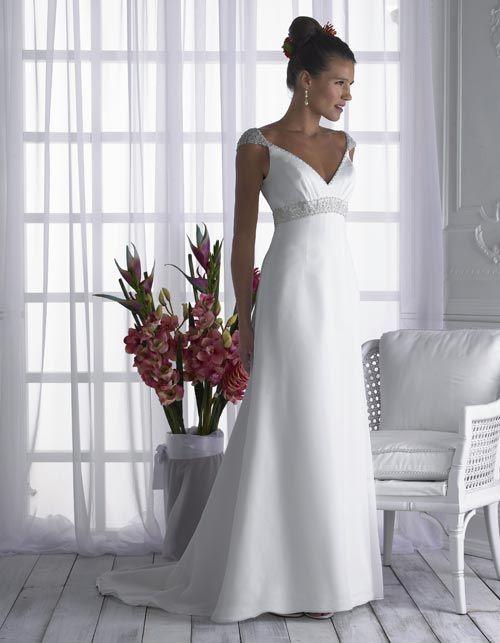 wedding dress empire style   > Wedding Dresses > Empire Waist Wedding Dresses > Gentle Cap Style ...