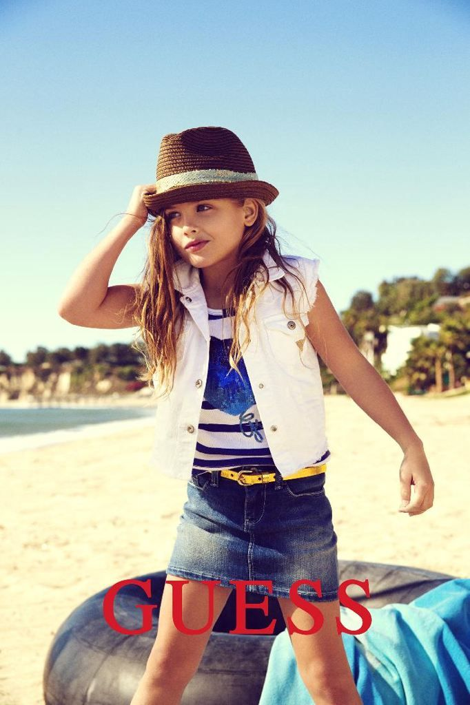 Just like her mom Anna Nicole Smith, Dannielynn Birkhead is starting her own modeling career early. With only being 6 years old, she already has been booked with Guess Inc. She will be  taking a starring role in the spring ad campaign for Guess Kids. Image Copyright: Guess?
