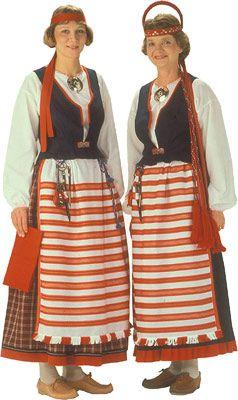 Rautjärven naisen kansallispuku