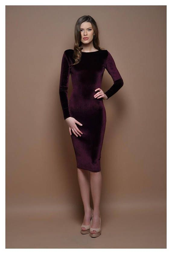 The dress is with long sleeves and closed back. ❖ If you wish other neck 5789baeeab75