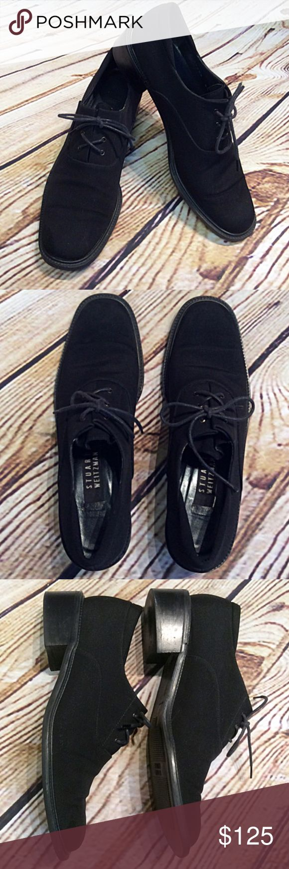 Stuart Weitzman Waterproof Gore Tex Oxford/Shoes These are fabulous for fall and winter. They are made of a Gore Tex fabric to repel water. Very sleek and stylish. Gently used Stuart Weitzman Shoes Flats & Loafers