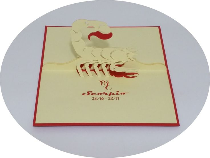 Scorpio 24 October – 22 November - 3D Pop Up Cards - Greeting Cards - Ovid Gifts