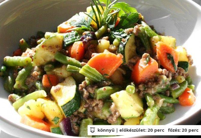 Marhahúsos zöldség-bőségtál