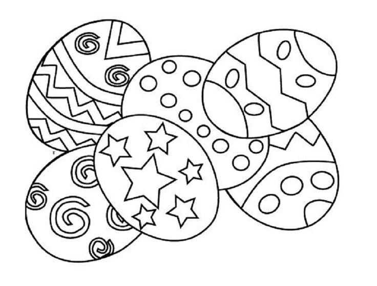easter coloring book pages print