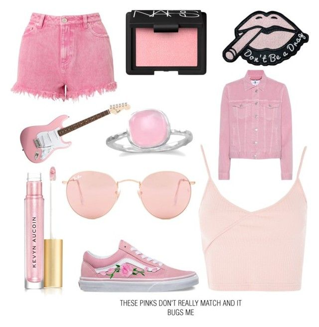 """""""#009 pink"""" by greenmush on Polyvore featuring Kevyn Aucoin, Vans, Topshop, Miss Selfridge, Ray-Ban, BillyTheTree, 7 For All Mankind and NARS Cosmetics"""
