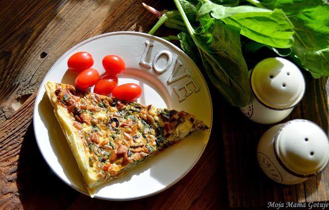 OBIAD: Tarta ze szpinakiem, fetą i suszonymi pomidorami