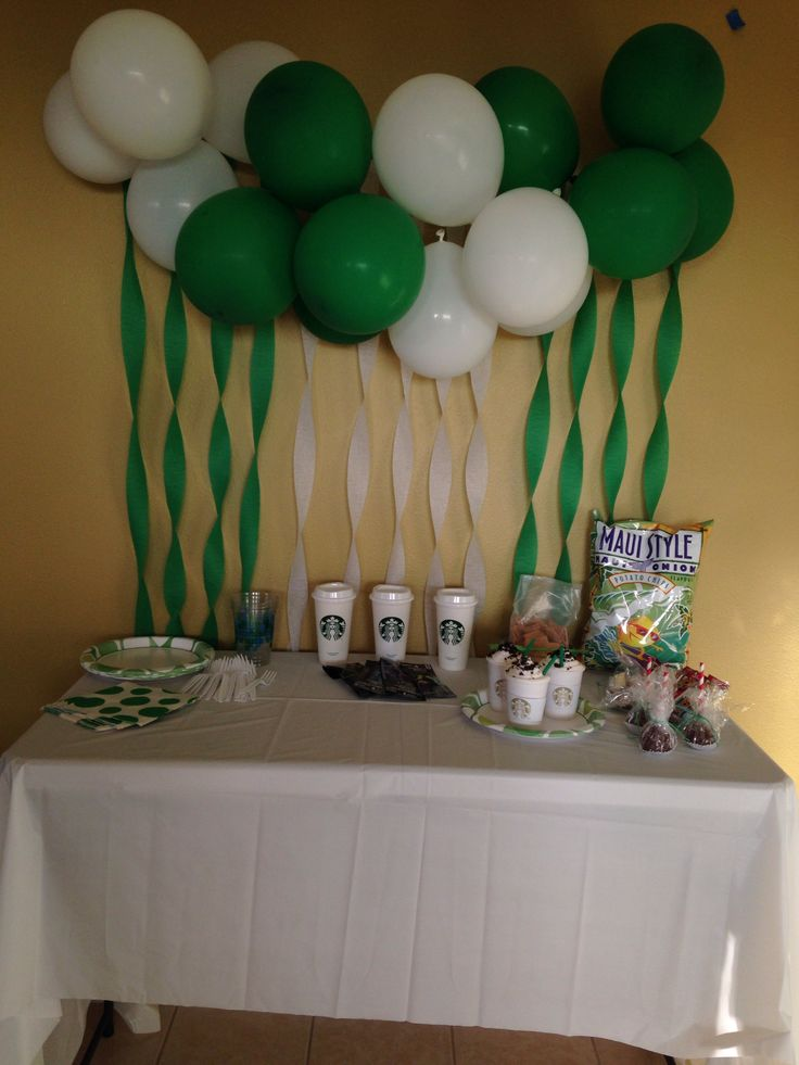 24 best starbucks party images on pinterest starbucks for 13th birthday party decoration ideas