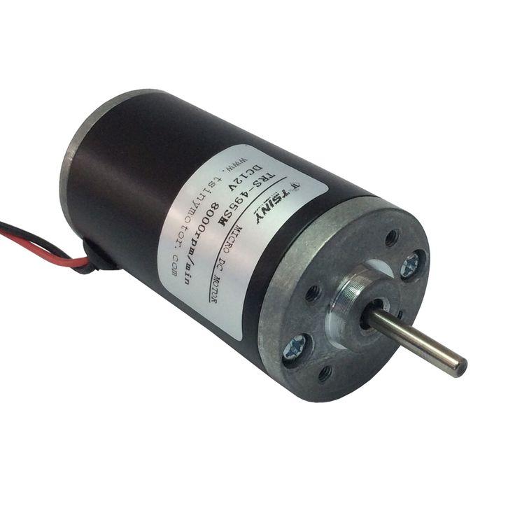DC Micro Motor 12V 8000rpm DIY Tiny Motor Brush Rated Torque 250g.cm DC Motor Long Life TRS-495SM