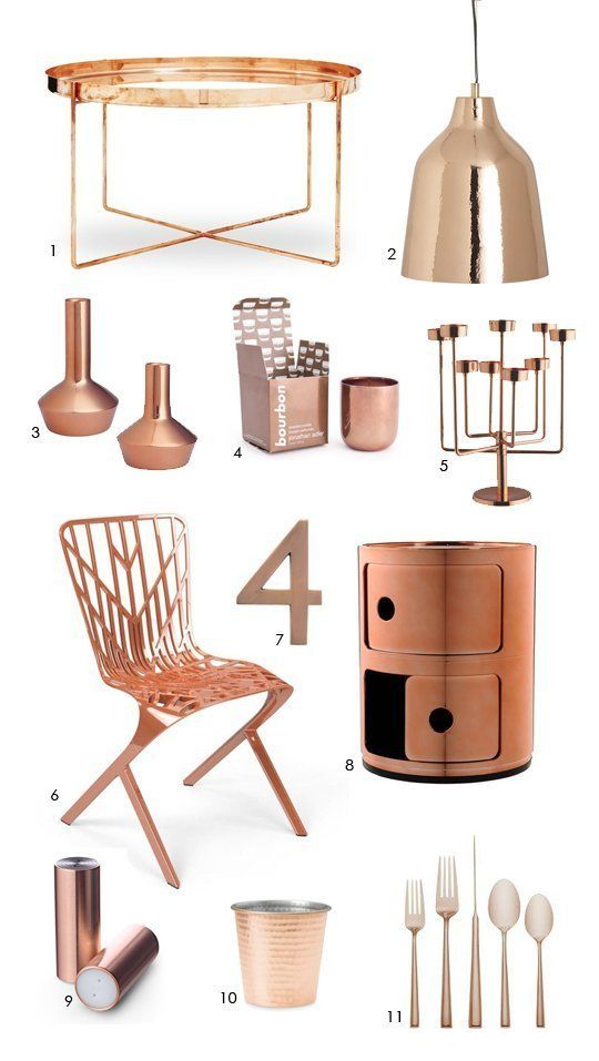 color forecast cool copper accessories copper craftscopper accessorieshome decor - Copper Home Decor