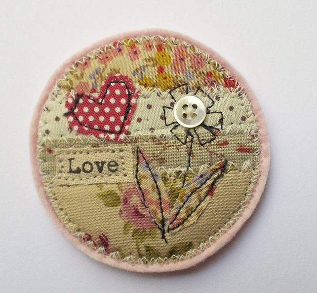 Fabric Brooch £12.00