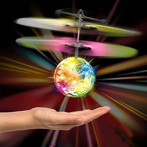 Hand Flying Disco Ball Helicopter Toy For Kids Flash Light Infrared Induction  #HandFlyingDiscoBall