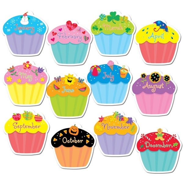 .-.Classroom Decor, Bulletin Boards, Birthday Cupcakes, Design Cutout, Cupcakes Jumbo, Classroom Ideas, Cut Outs, Cupcakes Rosa-Choqu, Jumbo Cut