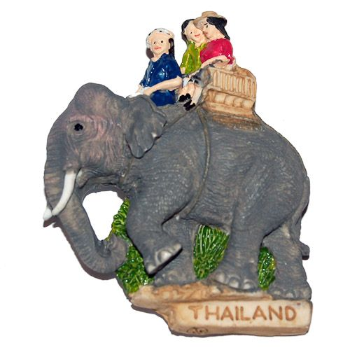 Resin Fridge Magnet: Thailand. Elephant