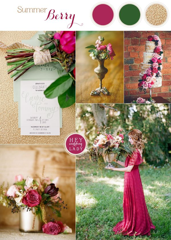Best 25 summer wedding colors ideas on pinterest wedding rich and wild summer berry wedding inspiration junglespirit