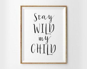 Run Wild My Child Printable Wall Art Boho by INVITEDbyAudriana