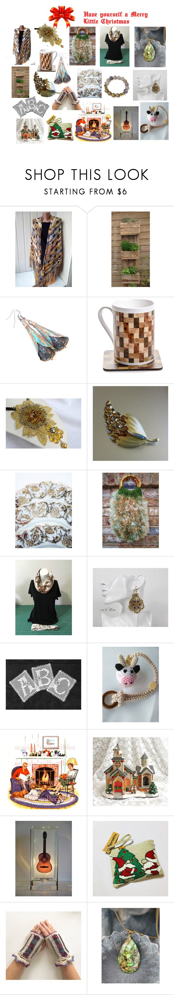 """Have Yourself a Merry Little Christmas!"" by cozeequilts ❤ liked on Polyvore featuring rustic"