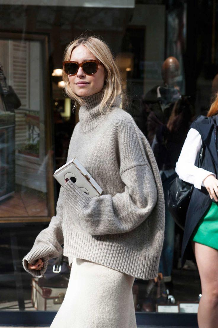 Pernille Teisbaek. Paris Fashion Week street style. Photo: Imaxtree.