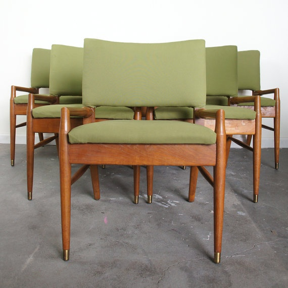 Set of 6 Mid Century Dining Chairs by SPUNKvtg on Etsy   750 0076 best upholstery ideas images on Pinterest   Velvet chairs  Home  . Dining Chair Upholstery Ideas. Home Design Ideas
