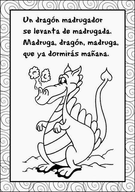 Trabalenguas Para Nios Buscar Con Google Pinterest Poem And Dragon