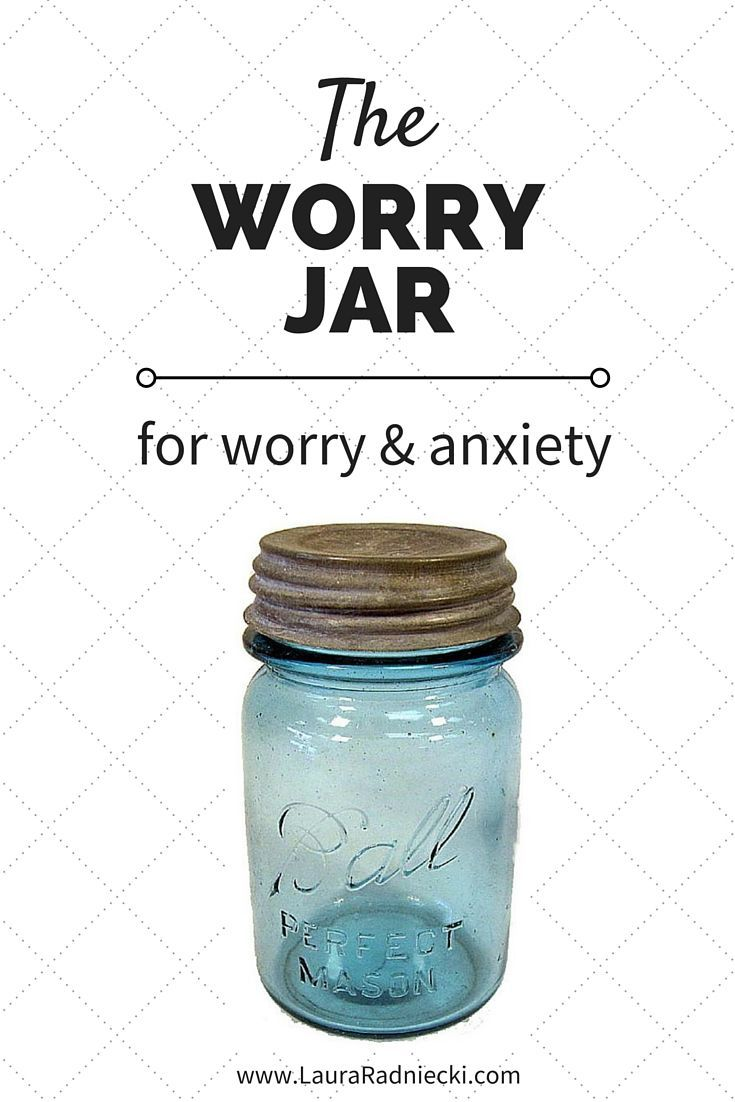 The Worry Jar is a technique that can be used to help work through and moderate anxiety and worry, especially in children. It isn't necessarily a cure but it can help to lessen the severity and encourage perspective surrounding your worries and anxieties.
