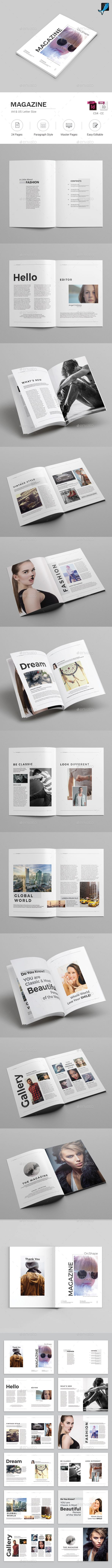 Magazine InDesign Template #fashion #minimal • Only available here! → https://graphicriver.net/item/magazine/17261288?ref=pxcr