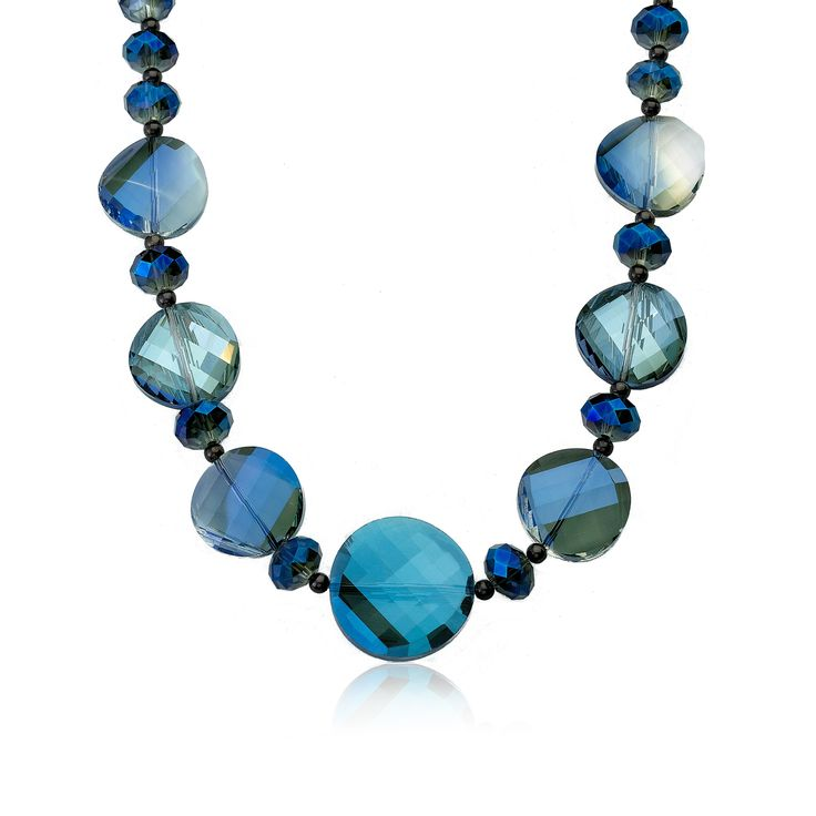 RICCOVA Faceted Glass 18-inch Avant-garde Necklace