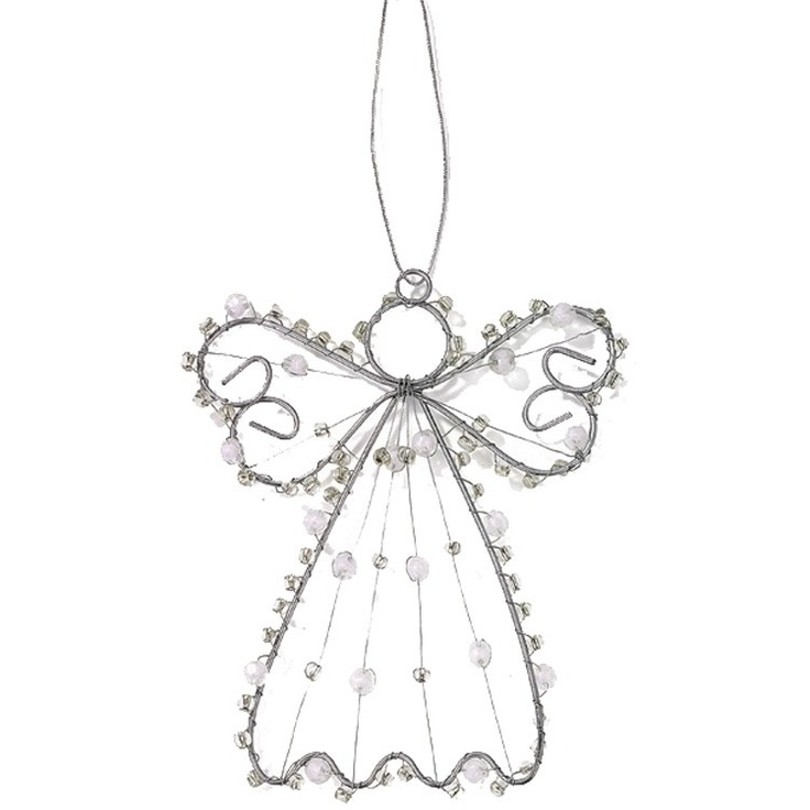 Wire Angel with Beads Decoration