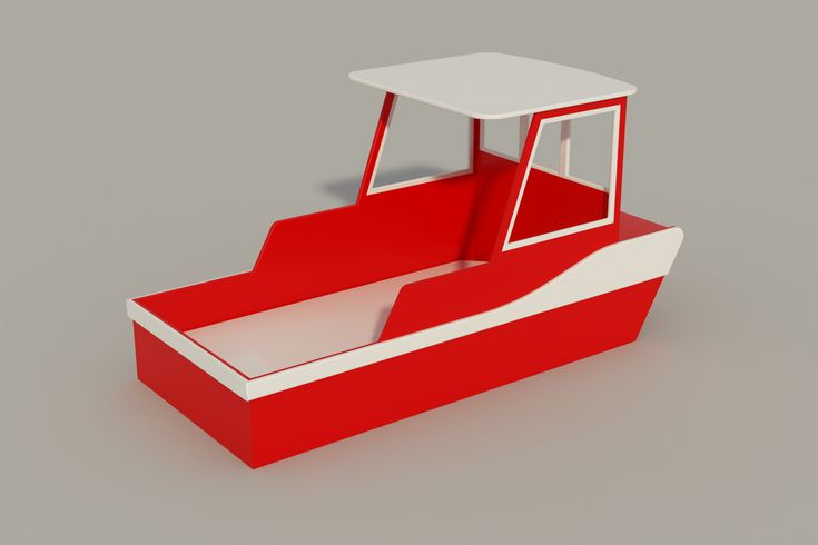 Build your own childs single Tug Boat bed (DIY Plans) Fun to build!!