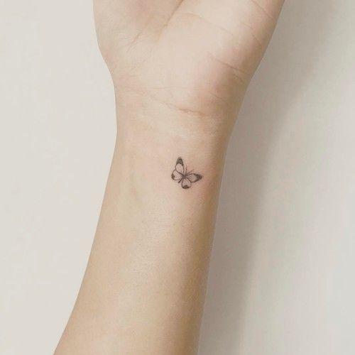 mini tattoo wrist butterfly