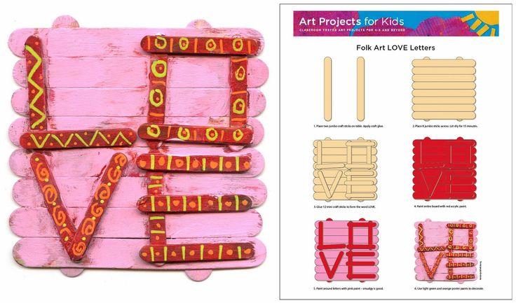 Art Projects for Kids: Folk Art LOVE Letters