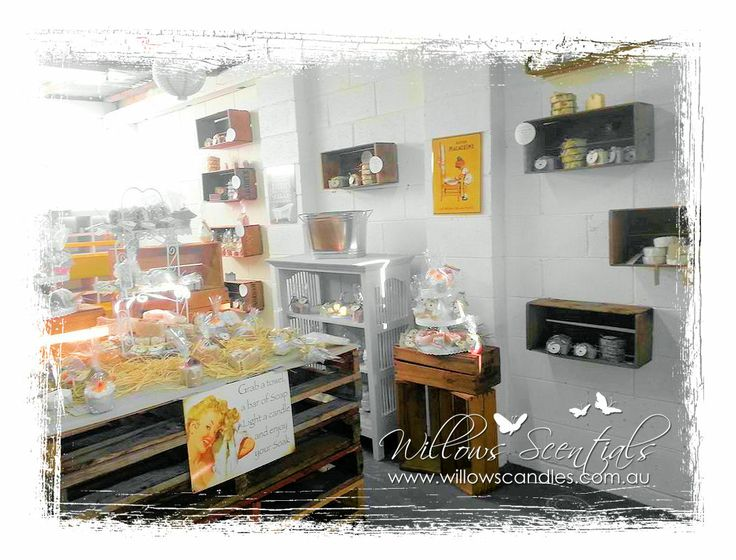 Willows Scentials Soap Shop/Showroom. Located in Eltham/Research, Melbourne. www.willowscandles.com.au