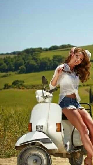 Vespa Beauty #Scooters #BeautifulWomen #ItalianDesign