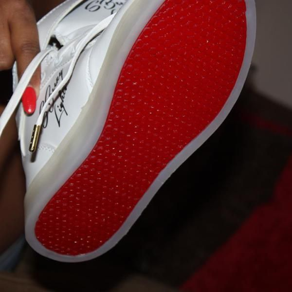 SB Red Bottoms™ White (Up to size 13) Pack – SBeezy Lights by Soulja Boy