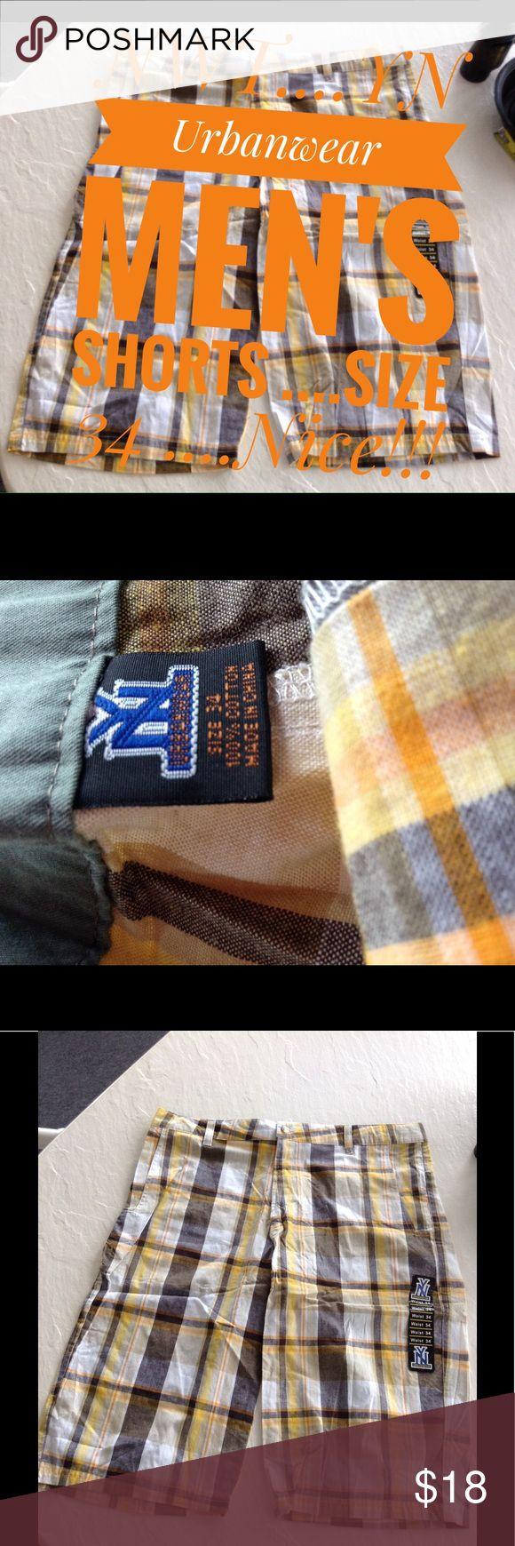 """NWT .....""""YN Urban wear"""" Men's dress shorts Size34 NWT .....""""YN Urban wear"""" Men's dress shorts ...Size34...Top to Bottom =26"""".....11""""Rise.....15""""Inseam....Nice! urban Wear Shorts"""