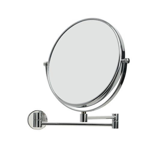 Mevedo Polished Chrome Extending Wall-Mounted Magnifying Mirror