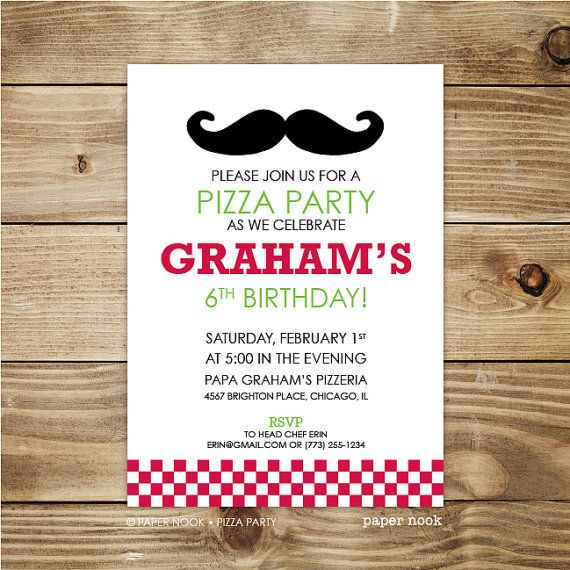 9 best images about Pizza Party Creative DIY Ideas – Make Your Own Pizza Party Invitations