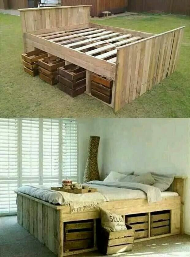Love. Maybe make a new bed frame with storage
