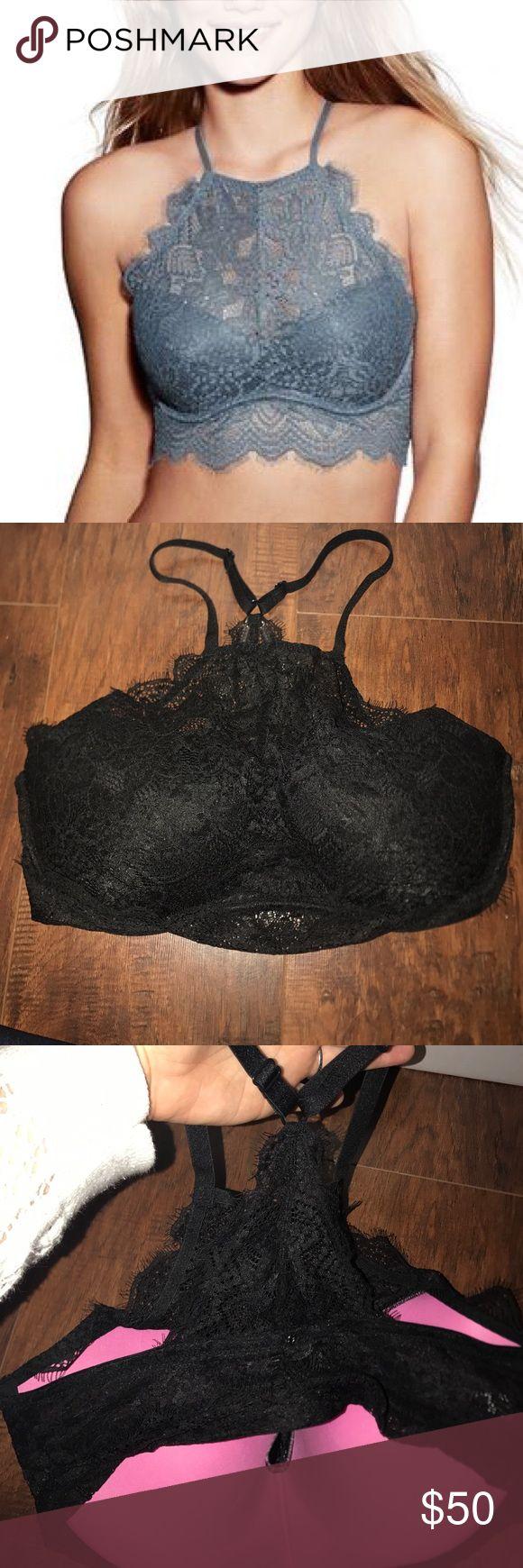 Victoria secret PINK bralette NWOT. Size large.  Black.  Never worn. PINK Victoria's Secret Intimates & Sleepwear Bras