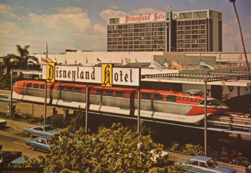 Vintage Disneyland Hotel & Monorail- This is how I remembered it as a child - 1972
