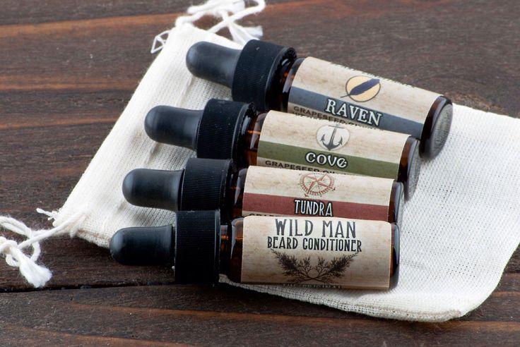 Wild Man Beard Oil Conditioner - Trial Size Sampler Pack Men's Beard Grooming by WildRoseHerbs on Etsy https://www.etsy.com/listing/188790951/wild-man-beard-oil-conditioner-trial