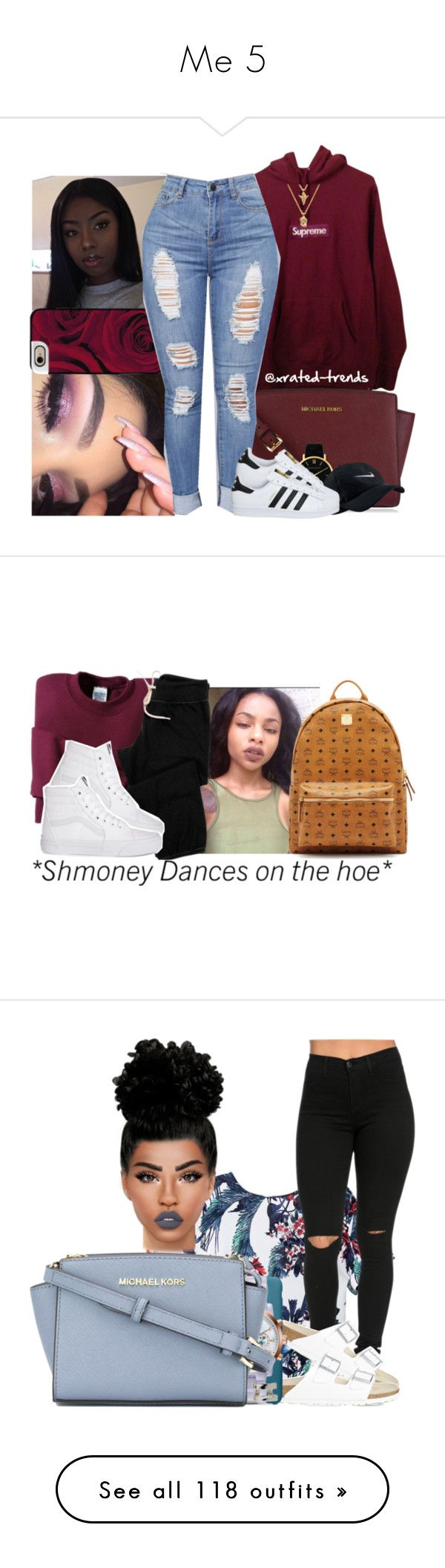 """""""Me 5"""" by mzlowkey ❤ liked on Polyvore featuring Supreme, MICHAEL Michael Kors, The Gold Gods, Casetify, Larsson & Jennings, NIKE, adidas, Gildan, Monrow and MCM"""