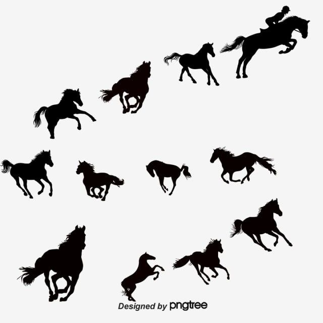 14 Creative Equestrian Horse With Silhouette Vector Material Horse Clipart Horse Riding Black Png Transparent Clipart Image And Psd File For Free Download Silhouette Vector Animal Silhouette Horses