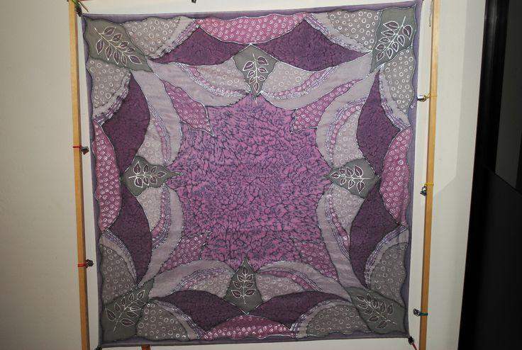 Silk scarf Winter spirits Hedvábný šátek Zimní nálada 90x90 cm