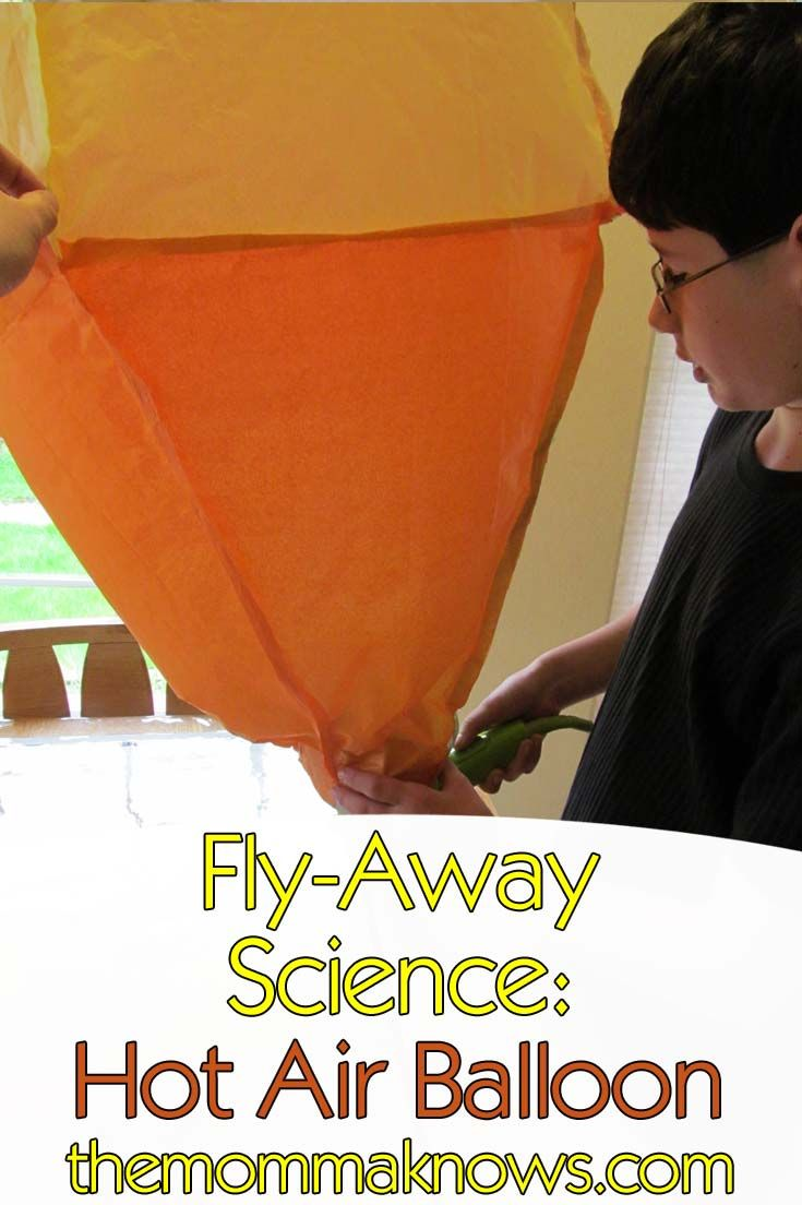 hot air balloon science project Use hot and cold air to inflate a balloon hot air balloon inflating kids science gifts science experiments science fair projects science topics creative.