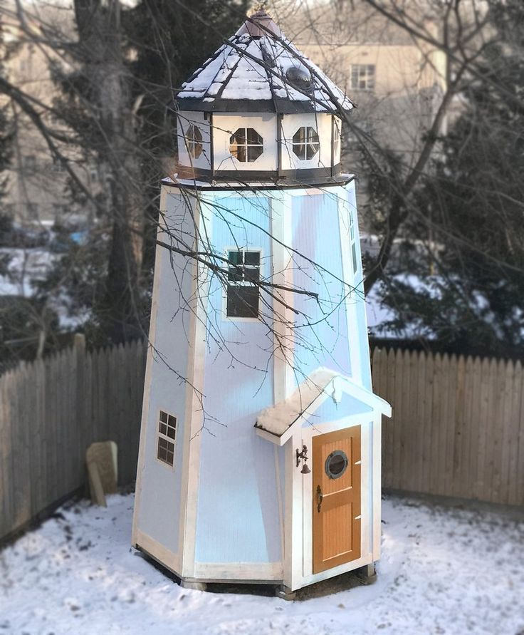 3 level lighthouse playhouse plan for kids.