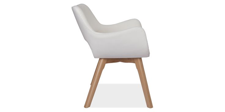 Fabric Dining chair cashmere white - Cashmere - White