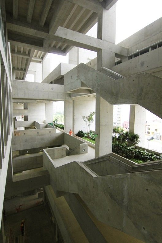 Completed in 2015 in Barranco , Peru. Images by UTEC, Grafton Architects, Iwan Baan, Shell Arquitectos. The project for the new University of Engineering and Technology (UTEC) building is located in a lot in the district of Barranco facing Malecón...